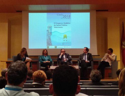 El equipo técnico de calidad de procesos de CINNGRA presenta su comunicación en el  II Congreso Andaluz de Salud Pública Veterinaria de Cádiz