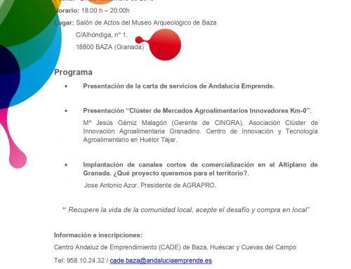JORNADA DE TRANSFERING DEL PROYECTO INTERREG-MED CAMARG ANTE LOS CADE DE BAZA, HUÉSCAR Y CUEVAS DEL CAMPO